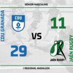 El Jaén Rugby B se vuelve de vacio ante el CDU Granada en Primera Regional Andaluza